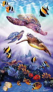 Turtle Play (500 Piece Puzzle by SunsOut)