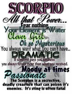 ♏ #Scorpio #Quote #Zodiac #Astrology For more Scorpio related posts, please check out my FB page: https://www.facebook.com/ScorpioEvolution