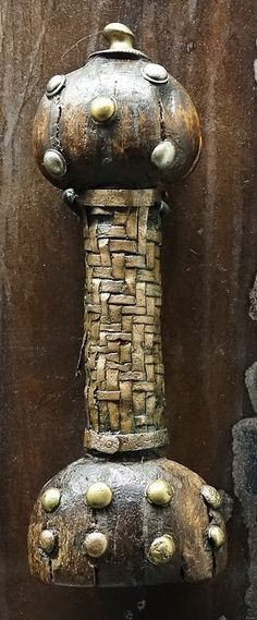 Sword hilt, studded wood with interwoven grip .Schloss Gottorf Schleswig... items recovered from the bog at Thorsberg, dated between the 2nd and 5th century.  Matt Bunker - Wulfheodenas