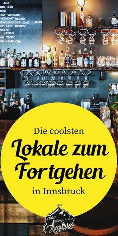 Bars für Konzerte, Cocktails, Tanzen, Musik oder ein gemütliches Bier in Innsbruck zeigen wir dir hier. Innsbruck, Kombucha, Vermont, Techno, Bars And Clubs, Lokal, Cool Bars, Austria, Road Trip