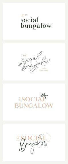 The Social Bungalow Brand Launch logo inspiration Logo And Identity, Brand Identity Design, Logo Branding, Corporate Branding, Font Logo, Corporate Design, Brand Design, Visual Identity, Photography Packaging