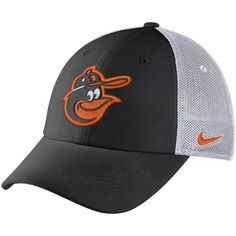 0be9528913a66 Men s Baltimore Orioles Nike Black Aerobill Classic 99 Meshback Flex Fit Hat