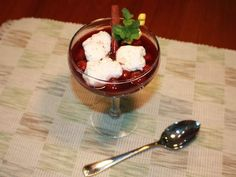 Black Forest Cherry Soup with Egg White Dumplings