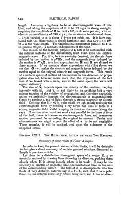 Electrical Papers - Oliver Heaviside -  2 Regions Mechanical Action