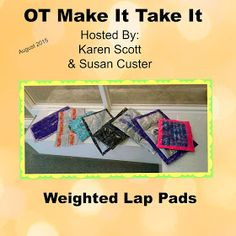 Sewing Weighted Blanket OT Tools for Public Schools: Make your own weighted lap pad for students with rice, zipper bags, and duct tape. Pediatric Occupational Therapy, Pediatric Ot, Sensory Activities, Therapy Activities, Sensory Play, Sensory Diet, Classroom Activities, Classroom Ideas, School Ot