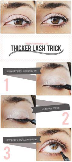 DIY - Thicker lash trick tutorial.