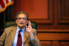Amartya Sen is and Indian economist who won the Nobel Memorial Prize in Economics in 1998. In 2010 Time magazine named him one of the hundred most influential people. His masterful works include The Argumentative Indian, The Idea of Justice and Development As Freedom.