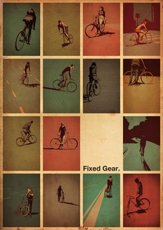 poster fixed gear cycling motivation, cycling posters, cycling, cycling quotes, classic cycling