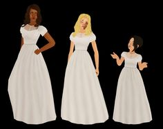 Forever Rose Gowns, gowns, gowns. I love me some nice wedding gowns. I don't think I'll ever host enough sim weddings to get around to…