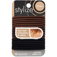 Shop for Colour Match Elastics, Black by Stylize Luxury Beauty, Hair Ties, Metal, Colour Match, Hair Accessories, Shopping, Black, Products, Color