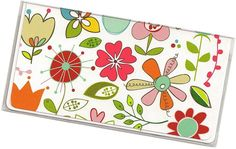 Checkbook Cover  Sugar Patch Doodled Floral by rabbitholeonline, $6.25