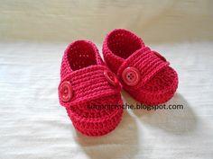 Simoni crochê: Mocassim de crochê bebe
