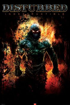 Disturbed ~ Indestructible The album art correlates to the bands style of music.