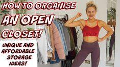 NEW VIDEO! - HOW TO ORGANISE YOUR WARDROBE! - UNIQUE STORAGE IDEAS! Wardrobe Organisation, Organization, How To Organize Your Closet, Affordable Storage, Declutter, Channel, Watch, Fasion, Storage Ideas