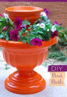 DIY Arts &  Crafts : DIY Bird Bath