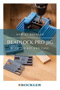 Drill specially-shaped mortises to accept Beadlock loose tenons—creates incredibly strong, concealed joints! #CreateWithConfidence #Beadlock #Jig #WoodworkingJig #Tenons