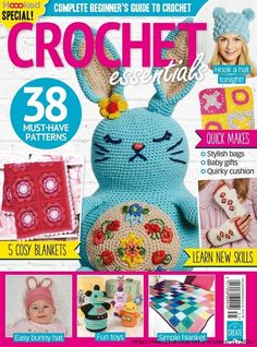 Crochet Essentials №31 2018. Crochet Books, Love Crochet, Knit Crochet, Crochet Hats, Crochet Sweaters, Bunny Hat, Bunny Toys, Crochet Diagram, Crochet Patterns