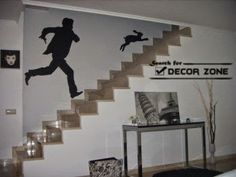 wallpaper ideas for staircase wall decoration