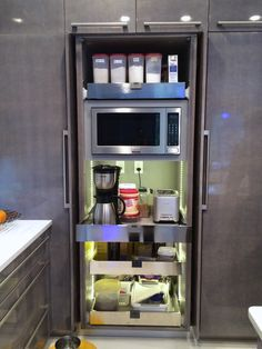 Neighbor's pantry.  All appliances plug in while still IN the pantry!