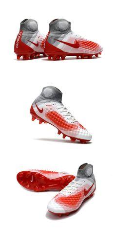 best authentic beace cf29e Nike Magista Obra II FG Chaussure Football Homme Blanc Rouge
