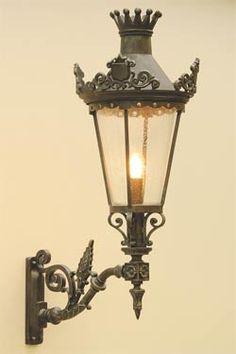 Applique lanterne suspendue en fer forgé patiné pour l\'extérieur ...