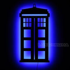 Lighted Dr Who Tardis Sign & Wall Art - Doctor Who Home Decor