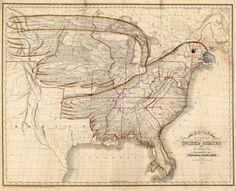 Retronaut  New capsule: The Eagle Map of the USA, 1833 (http://www.retronaut.com/2013/03/the-eagle-map-of-the-usa) -