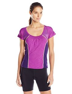 Moxie Cycling Womens Century Wrap Tee II Jersey Iris Medium >>> You can find out more details at the link of the image.