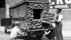 False lumber delivery truck for delivering Moonshine.