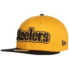 Men's Pittsburgh Steelers New Era Gold Flip Up Team Redux 9FIFTY Snapback Adjustable Hat