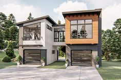 Container House Design, Tiny House Design, Modern House Design, Storage Container Houses, Contemporary Design, Duplex House Design, Contemporary Bathrooms, Carriage House Plans, Garage Apartments