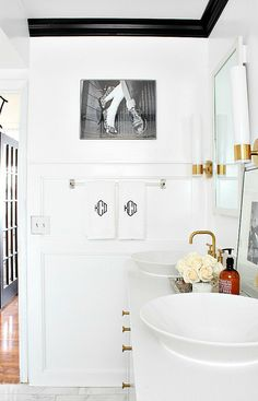 Bathroom designed by Kristin Cadwallader Bliss at Home