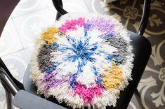 DIY : mon coussin noué de laines