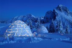 You want an adventure? Discover the 17 best #Igloo in Europe where you can sleep in the ice and snow for a #sustainable and unforgettable night. #greentravel #ecofriendly