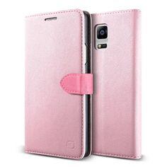 Samsung Galaxy NOTE 4 Handyhülle von original Urcover® in der Saffiano Diary Edition Galaxy NOTE 4 Schutzhülle Case Cover Etui mit Standfunktion und Kartenfach Rosa/Pink 18,90€