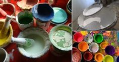 Pinturas+caseras+y+naturales+para+el+hogar Diy Recycle, Recycling, Decoupage, Arts And Crafts, Diy Crafts, Furniture Makeover, Chalk Paint, Painted Furniture, Woodworking
