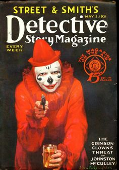 Detective Story Magazine. Clown with a gun.