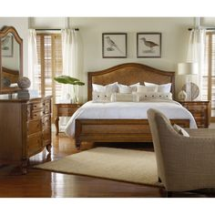 Hooker Furniture Windward King Raffia Bed HO-1125-91866