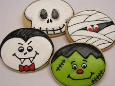 Cookie Crazy.  Cute Halloween designs using a round cutter.