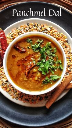 Very hearty and delicious Indian mixed lentils recipe, perfect to be served with rice or flatbreads. Lentil Recipes Indian, North Indian Recipes, Indian Food Recipes, Ethnic Recipes, Recipe Using Lentils, Mix Dal Recipe, Recipe Without Onion, Makhani Recipes, Healthy Beans