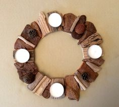 Couronne en bois flotté par l'Atelier de Corinne : Accessoires de maison par…