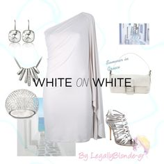 """Summer white!"" by legallyblonde-gr ❤ liked on Polyvore"