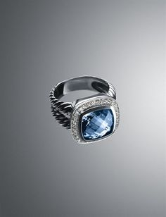 David Yurman - Blue Topaz Albion Ring .. Love it!!!!!