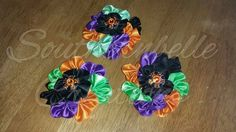 Satin Clustered Halloween Hair Clip by SouthernBelleCre2014