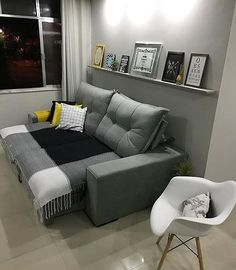 """Putting The """"Living"""" Into Your Living Room Furniture Living Room Sofa, Living Room Decor, Bedroom Decor, Interior Design Living Room, Living Room Designs, Small Apartment Living, Home Decor Furniture, House Rooms, Home Design"""