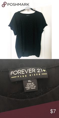 Forever 21 black floral blouse Forever 21 black floral blouse. Has 3D small black flowers on the front center panel. Size XL Forever 21 Tops Blouses