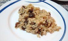 Un rico risotto de setas, Ethnic Recipes, Food, Mushroom Risotto, Essen, Meals, Yemek, Eten