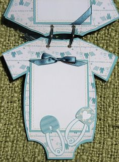 The Avid Scrapper: Onesie Baby Boy Brag Book / Scrapbook Album Paper Bag Scrapbook, Baby Boy Scrapbook, Mini Scrapbook Albums, Scrapbook Supplies, Pregnancy Scrapbook, Mini Albums, Baby Mini Album, Bridal Shower Scrapbook, Baby Boy Cards