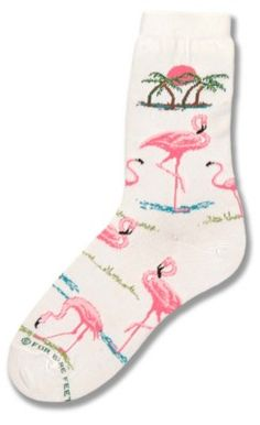 Flamingos sunset socks