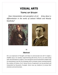 art extended essay abstract